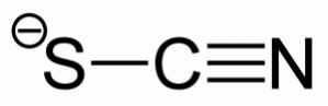 Die chemische Strukturformel von Thiocyanat